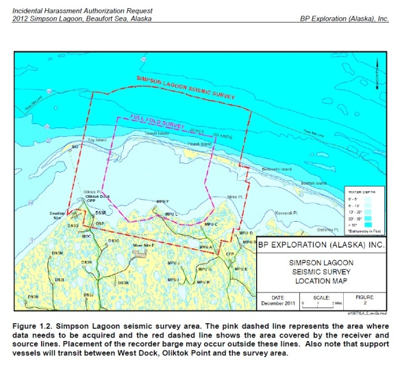 BP's Proposed Area for Seismic Testing