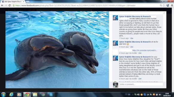 Qatar Dolphin Discovery has blocked U. S. Access to Their Facebook Page  at this time