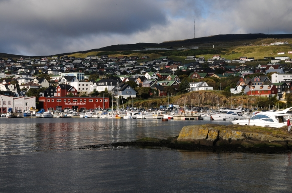The beautiful and scenic Tórshavn, Capital of the Faroe Islands