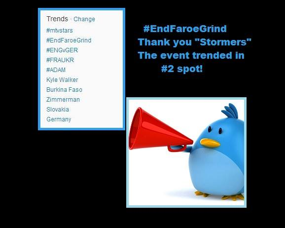 Thank-you #EndFaroeGrind Stormers!