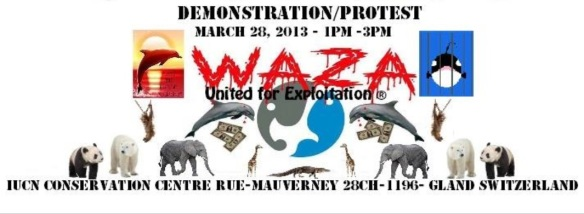 WAZA (World Association of Zoos and Aquariums) Demonstration/Protest - Switzerland