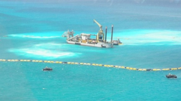 RWB's Public Relations Director, Michelle Malcolm, said dredging activities began yesterday following Supreme Court Senior Justice Hartmen Longley's ruling in a Grand Bahama courtroom. May 30, 2014